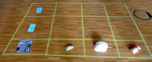 Leere Grid mit Bodenankern